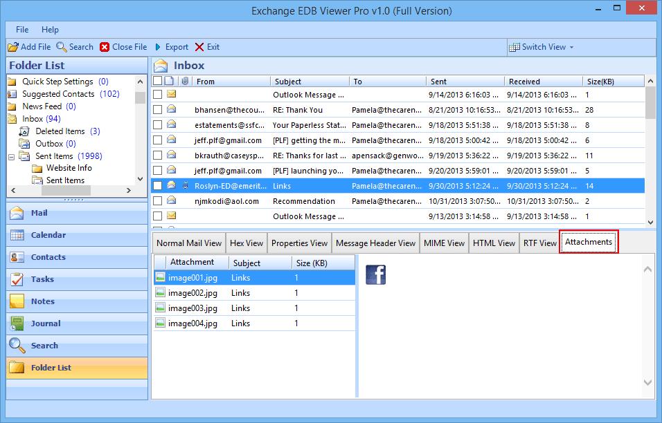 Free EDB Viewer – Open EDB, ESEDB File without Exchange Server