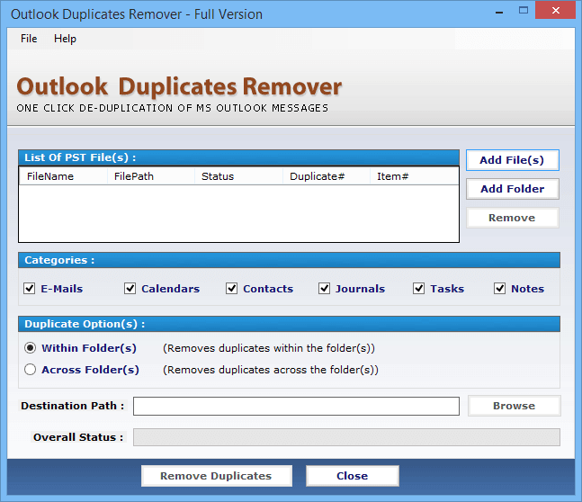 Tool for removing duplicate emails outlook 2007